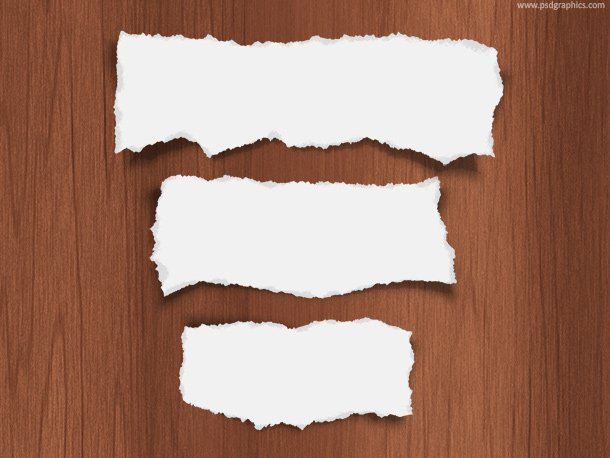 Free Torn paper pieces, PSD template PSD files, vectors & graphics