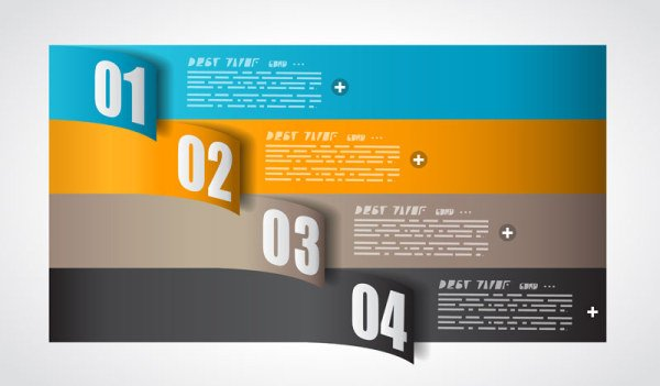 free colorful origami banner template vector graphic. Black Bedroom Furniture Sets. Home Design Ideas