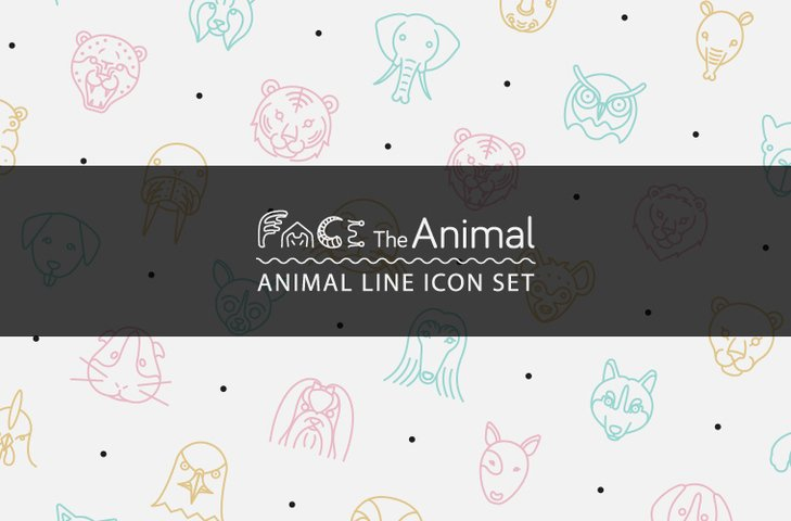 Animal Line Icon Set
