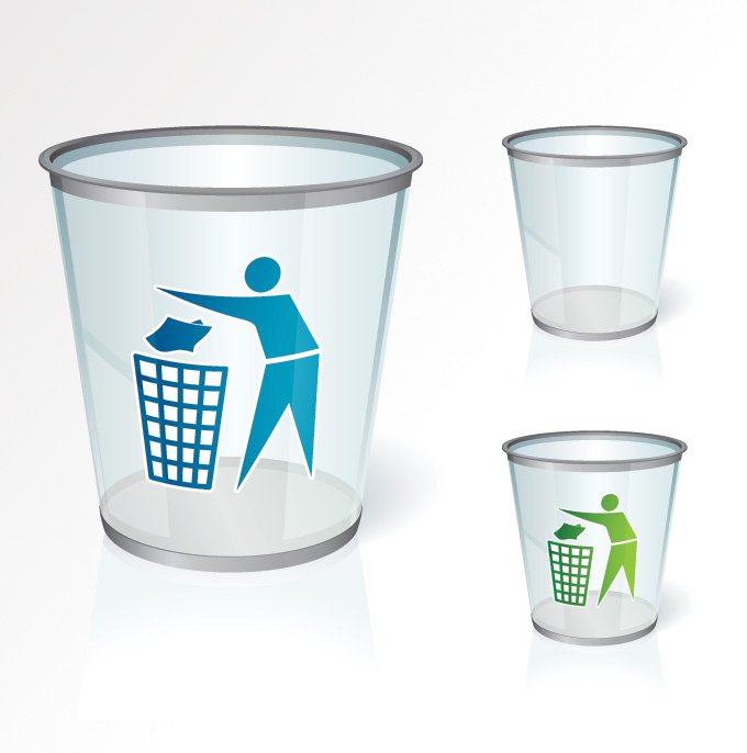 Empty Recycle Bin Vector Icons (Free)