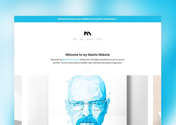 Macho WordPress Theme (PSD)