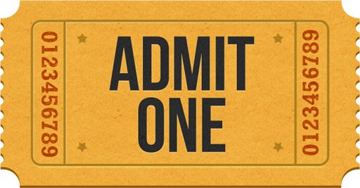 Admit-one ticket icons (PSD), vector graphics - 365PSD.com