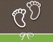 2 set baby announcement card
