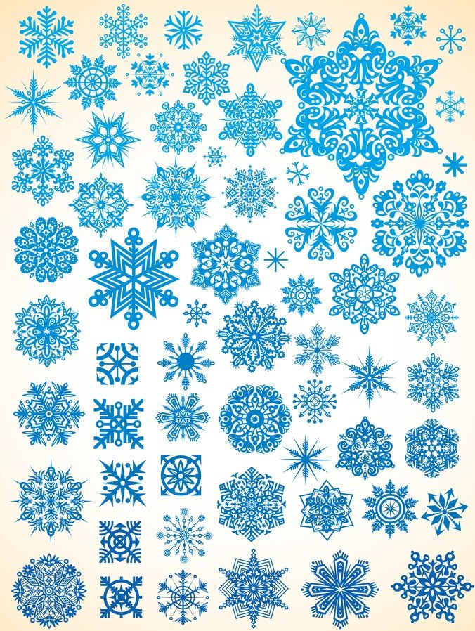 Variety Of Snowflakes Vector 1