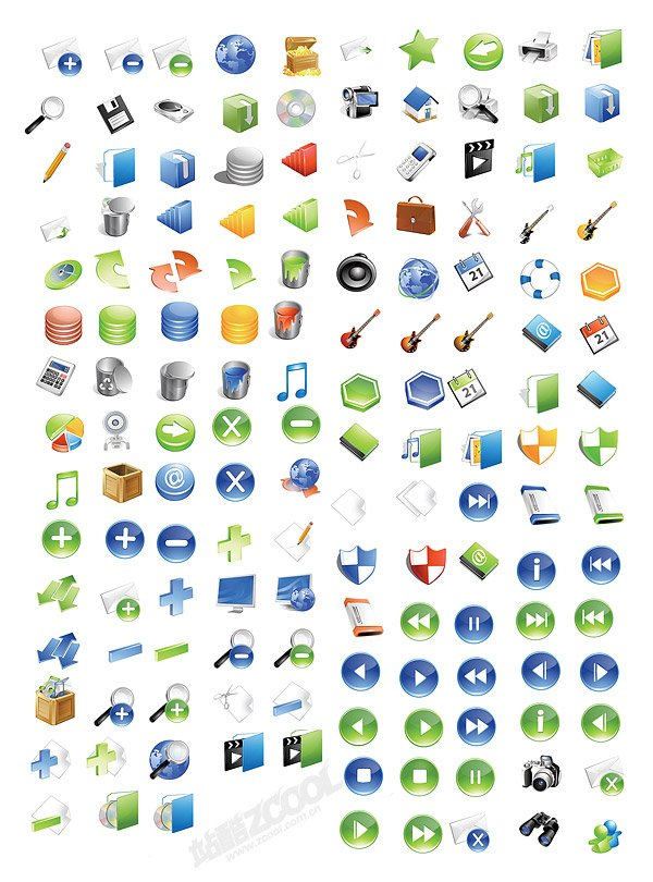 A set of 148 high-texture of the System icon