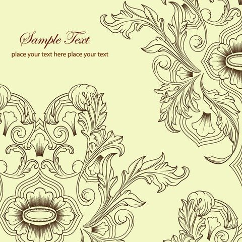 Free Floral Background Vector Classic
