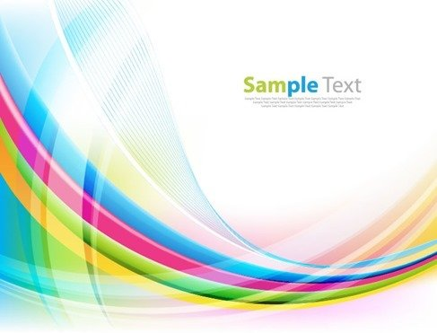Abstract Colorful Wave Vector Background Illustration