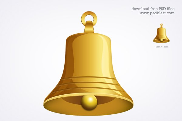 gold bell icon  psd   vector graphic 365psd com free vector snowflake clipart free download vector snowflakes