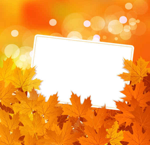 Autumn leaves Vector Backgrounds