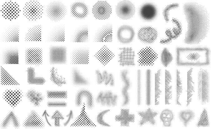 Black And White Design Elements Vector Series 9 Network Graphics