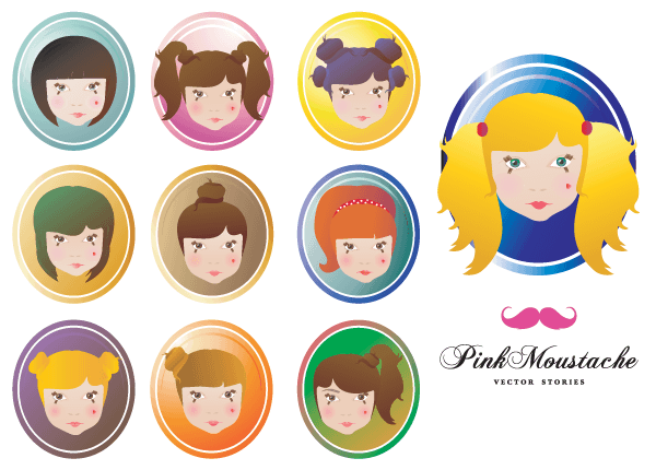 Doll Face Vector Free