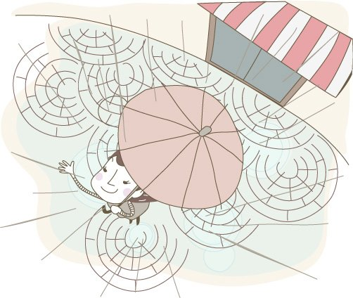 Vector lines cute illustration material