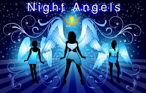 Girls with wings - night angels