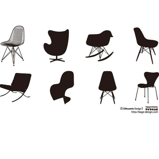 Free VECTOR SILHOUETTES OF CHAIRS.ai PSD files, vectors & graphics ...