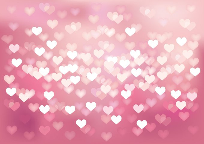 Heart Bokeh Background, vector image - 365PSD.com