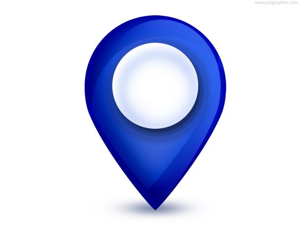Map Pointer Icon (PSD), Vecteur