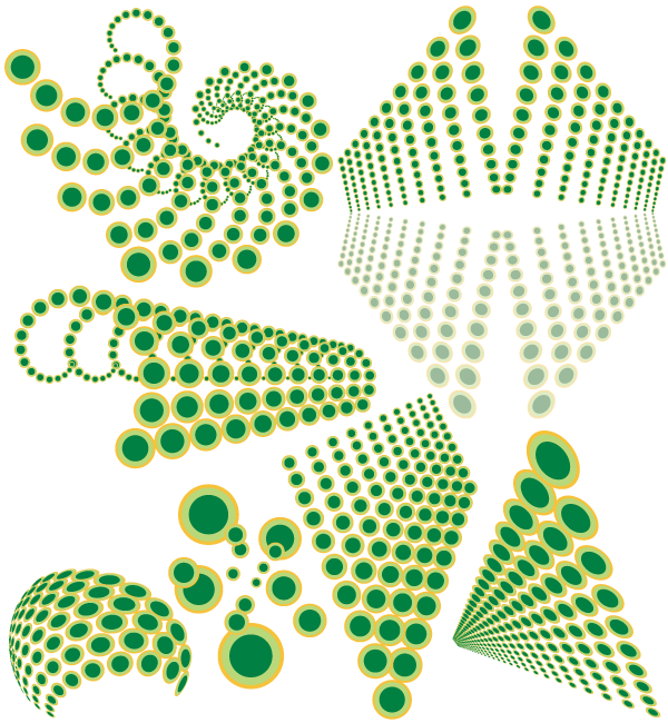 Abstract swirl dots designs elements vector free for Dots design apartment 8