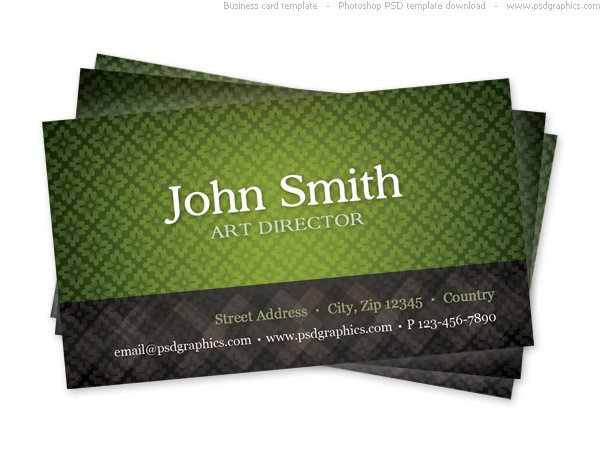 Free green business card template with seamless pattern psd files free green business card template with seamless pattern psd files vectors graphics 365psd reheart Gallery