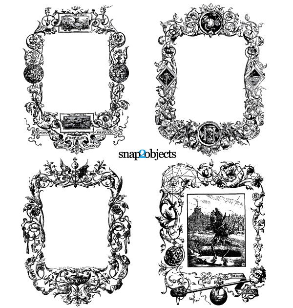 Free Floral Ornaments Vintage Frames Vector Graphics Free PSD files ...