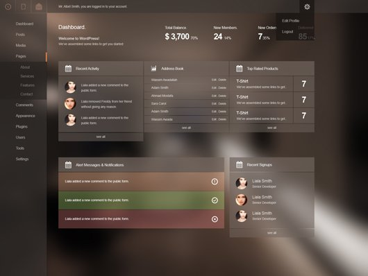 admin template free download in php - admin panel template psd psd