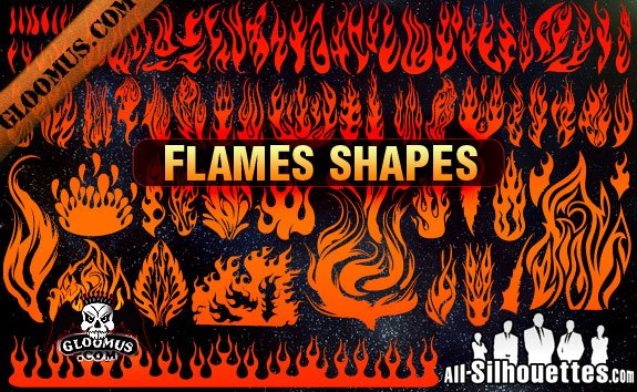 84 Vector Flame Shapes