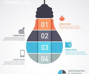 infographic Template with Light bulb banner