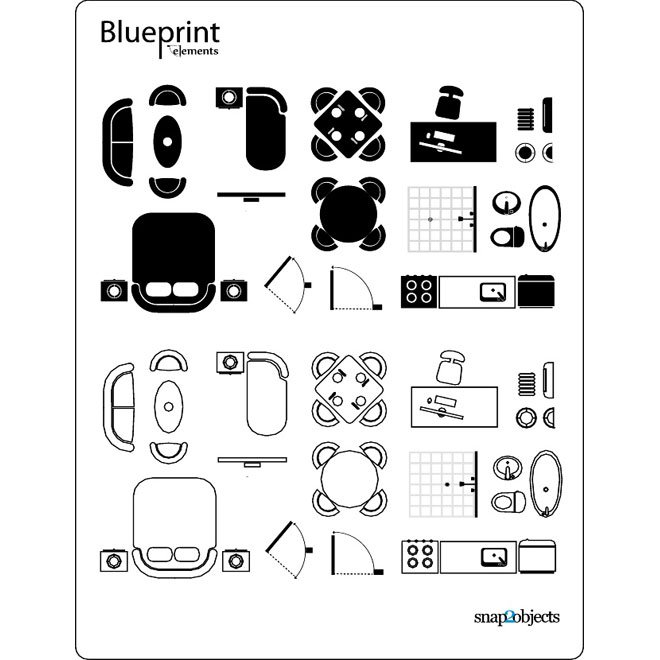 Blueprint vector elementseps free vectors 365psd malvernweather Choice Image