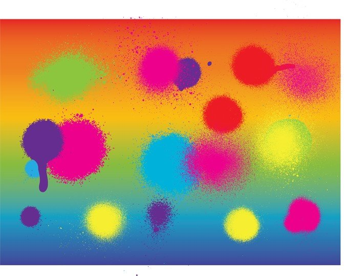 Colorful Spray Paint