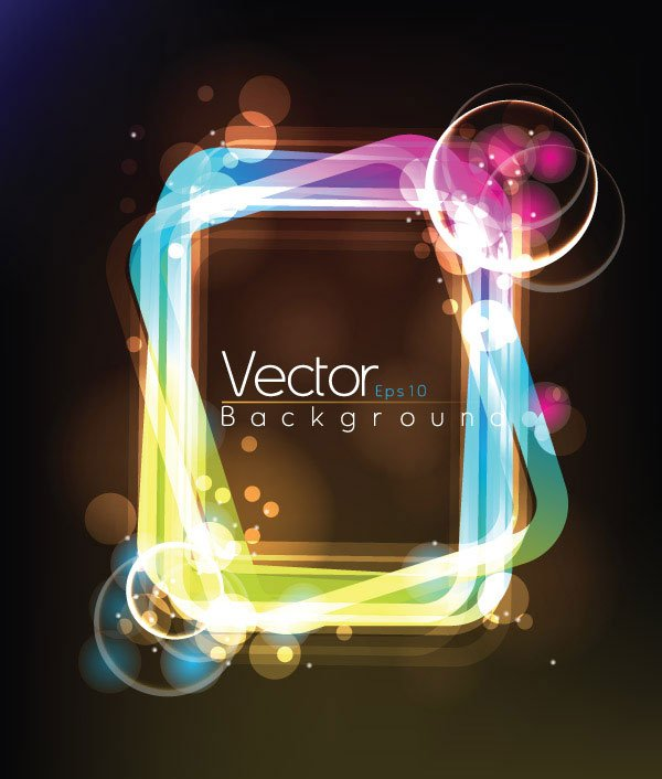 Vector composed of light frame