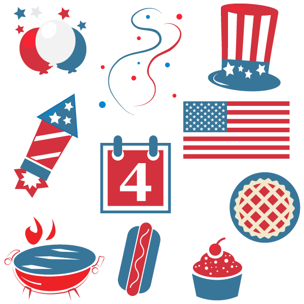 free happy fourth of july clipart psd files vectors graphics rh 365psd com clipart fourth of july fireworks clipart 4th of july animated
