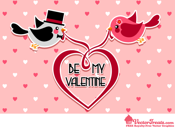 Free Valentine Vectors for Your Love Bird