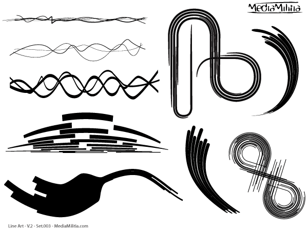 Vector Drawing Lines Definition : Line art vector design elements set files