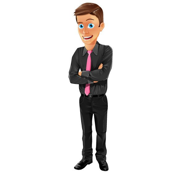 Office Assistant Vector Character
