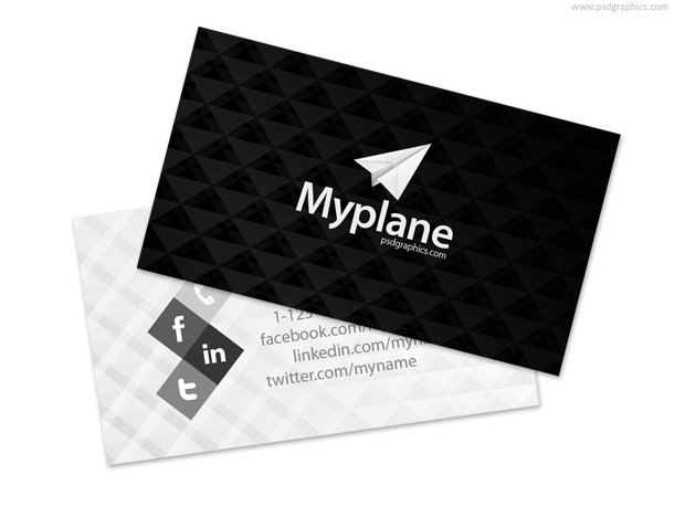 Free black and white business card template psd files vectors free black and white business card template psd files vectors graphics 365psd reheart Images