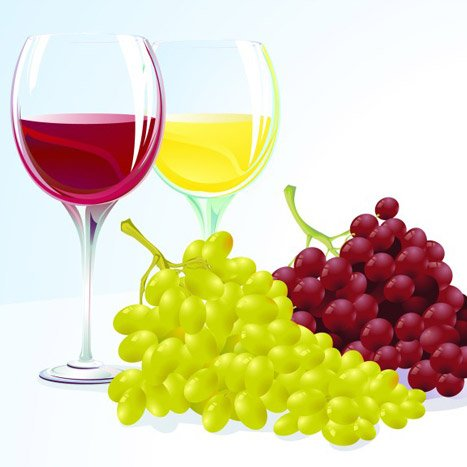 Vine With Grapes
