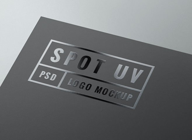 free spot uv logo mockup psd files vectors graphics 365psdcom
