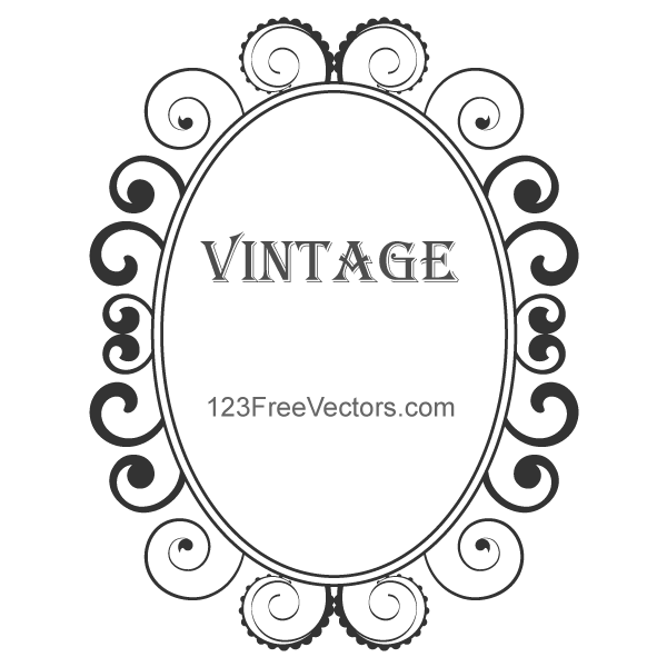 Free Vintage Floral Frame PSD Files Vectors Graphics
