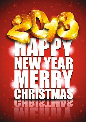Free 2013 greeting card vector-1