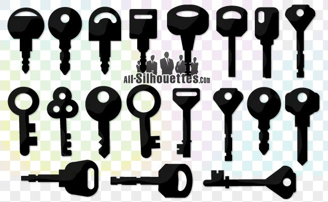 19 Free vector key clipart