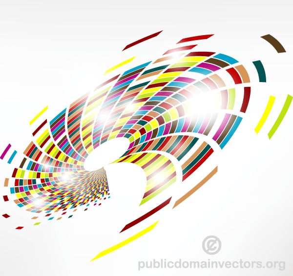 Abstract Colorful Swirl Vector Graphics Background Vector
