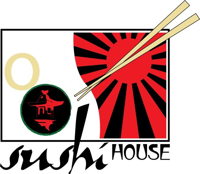 Sushi house logo for Modern house sushi 9 deler sett