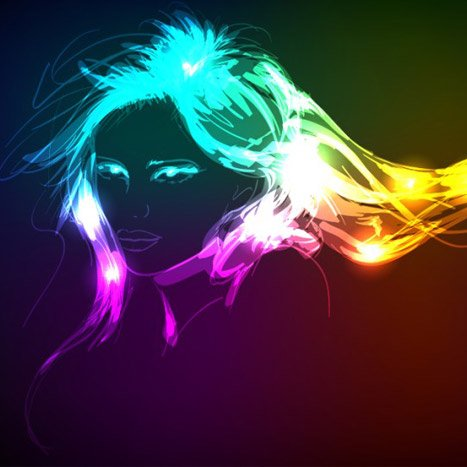 Neon Light Girl