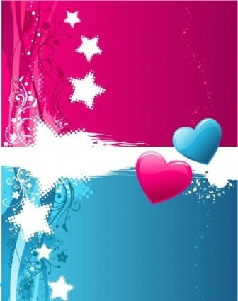 Two-colour Valentine's background