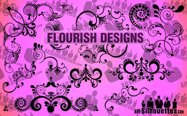 12 Vector Flourish Designs