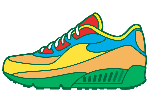 Walking Shoes Stock Vectors Clipart and Illustrations