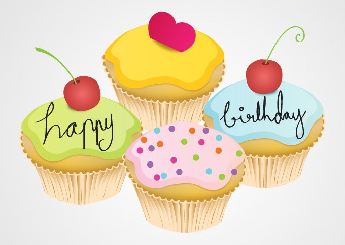 Prime Happy Birthday Cupcakes Vector Free File Download Now Funny Birthday Cards Online Eattedamsfinfo