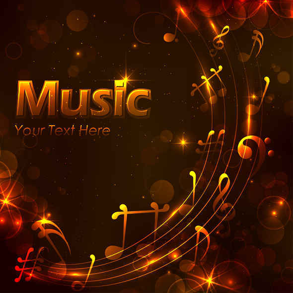 Free Golden music design background