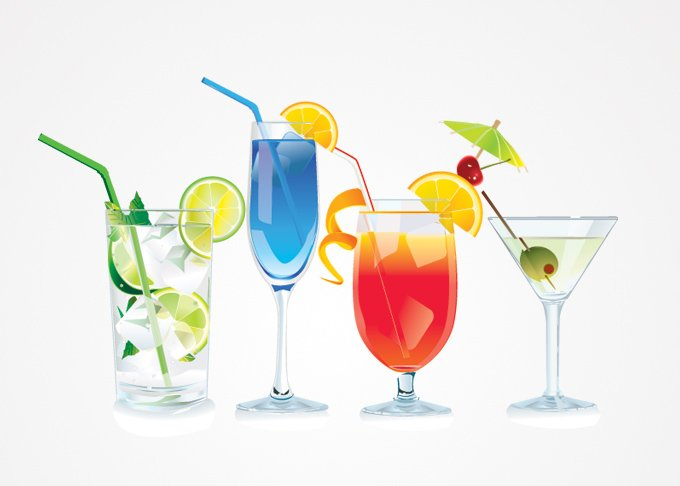 Cocktail Vector Illustrations (Free)