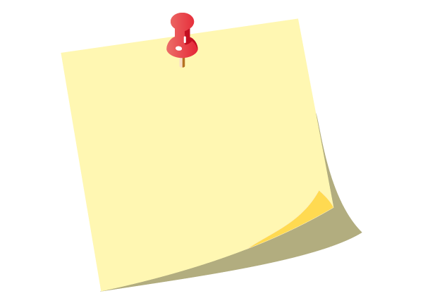 free free vector yellow post it notes with push pin psd files