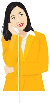 Girl with phone 37
